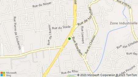 Plan d'accès au taxi MS Taxi's Mulhouse