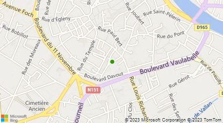Plan d'accès au taxi Abcisse Taxi Auxerre
