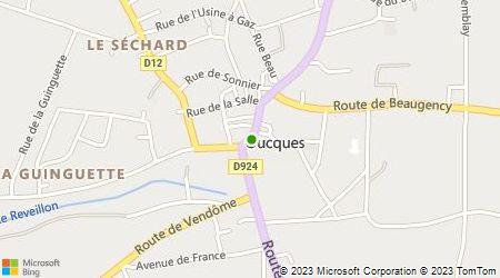 Plan d'accès au taxi Ambulances Leroux (SARL)