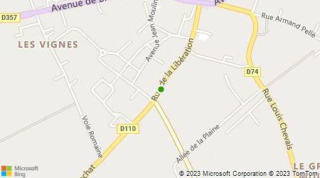 Plan d'accès au taxi Ambulances D'Ouzouer