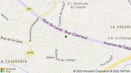 Plan d'accès au taxi Tinnière Jean-Claude