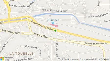 Plan d'accès au taxi Taxi Quimper