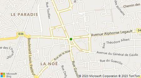Plan d'accès au taxi La Bruzoise