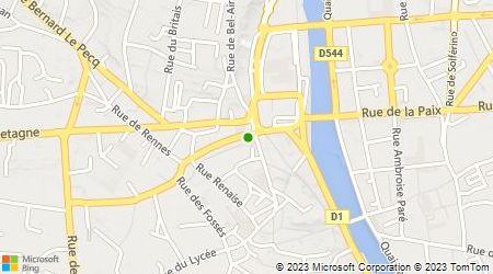 Plan d'accès au taxi Taxi Gougeon Laval