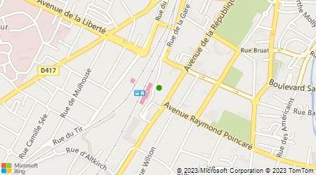Plan d'accès au taxi Association des Radios Taxis Colmar