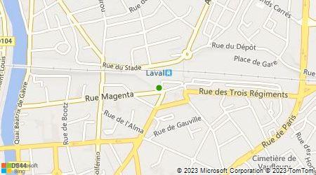 Plan d'accès au taxi Artaxi Laval (GEIE)