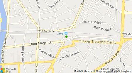 Plan d'accès au taxi Taxis Lavallois