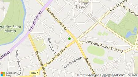 Plan d'accès au taxi Taxi Rennes Métropole