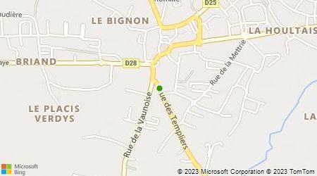 Plan d'accès au taxi Taxi Rennes Ouest