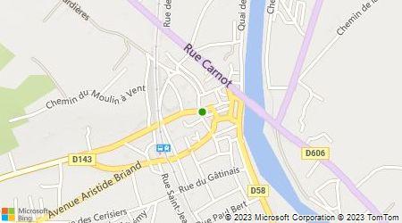 Plan d'accès au taxi Taxi de Pont sur Yonne