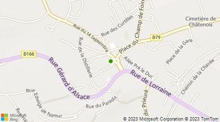 Plan d'accès au taxi A. Chatenois Taxi
