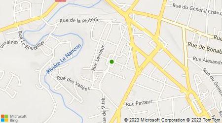 Plan d'accès au taxi Allo Taxi Fougerais