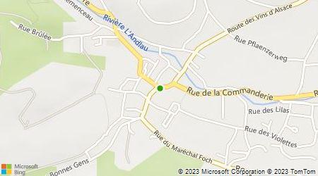 Plan d'accès au taxi Taxi Martine