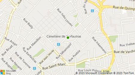 Plan d'accès au taxi Taxis Brestois (SARL)