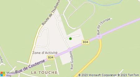 Plan d'accès au taxi Guérin Monique