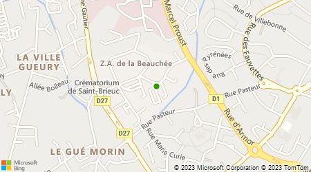 Plan d'accès au taxi Taxi Gueuné Pascal