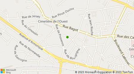 Plan d'accès au taxi Baudouin Charles