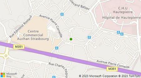 Plan d'accès au taxi Taxi A.A.A.Strass 67