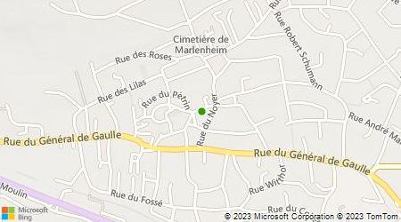 Plan d'accès au taxi Alsace Assistance - Château