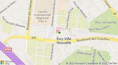 Plan d'accès au taxi Taxis Gare SNCF Evry-Courcouronnes