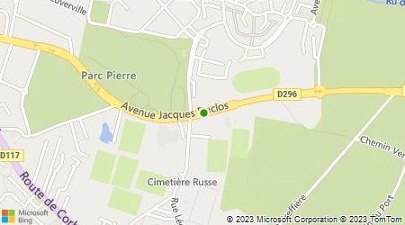 Plan d'accès au taxi Accès Services Taxis du Val d'Orge