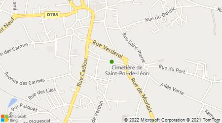 Plan d'accès au taxi A Saint Pol Taxi