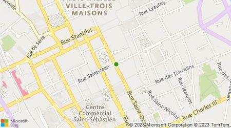 Plan d'accès au taxi Taxi de Nancy