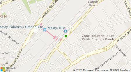 Plan d'accès au taxi Taxis Massy