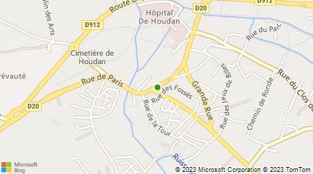 Plan d'accès au taxi ABAC Taxi Houdan
