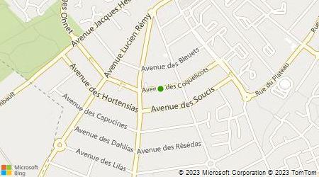 Plan d'accès au taxi Saint hubert Francky