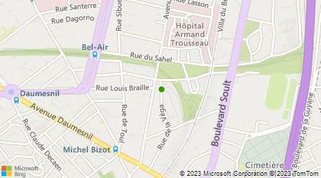 Plan d'accès au taxi Amoura Boussad