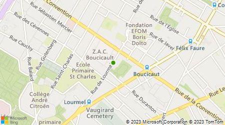Plan d'accès au taxi Lourmel Prestige Services