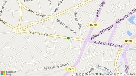 Plan d'accès au taxi Accord Artisans Taxis Radio 93 (A.A.T.R 93)