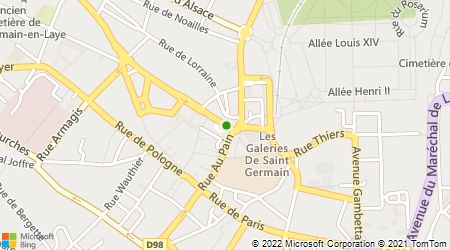 Plan d'accès au taxi Association Artisans Taxis Radio de Saint-Germain-En-Laye