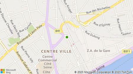 Plan d'accès au taxi Appel Taxi de la Gare