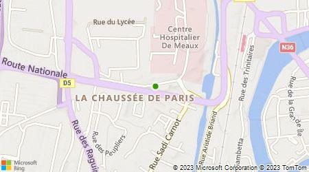 Plan d'accès au taxi Accueil Appel Des Taxis De Meaux