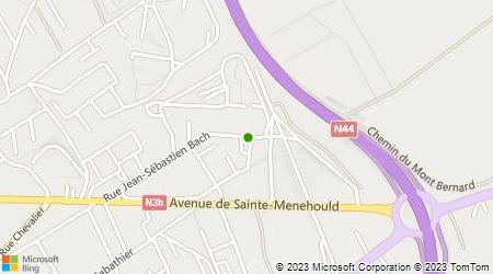 Plan d'accès au taxi A Châlons en Champagne Gie Taxis Sainte Croix