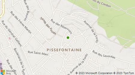Plan d'accès au taxi Les Taxis de Triel sur Seine
