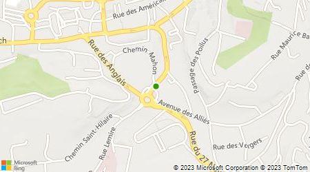 Plan d'accès au taxi Taxi Majcen Florent