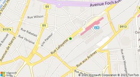 Plan d'accès au taxi Artisans Radio Taxis Metz