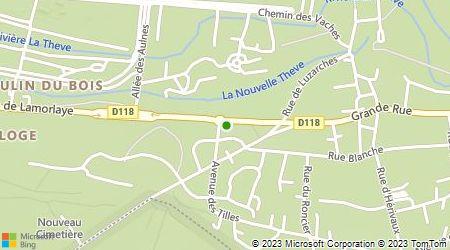 Plan d'accès au taxi Accompagnement Taxi Chantilly