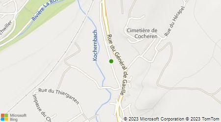 Plan d'accès au taxi Demogeot Sylvain