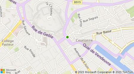 Plan d'accès au taxi Taxi Caen Numéro 18