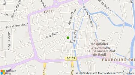 Plan d'accès au taxi Jacky Taxi Louviers