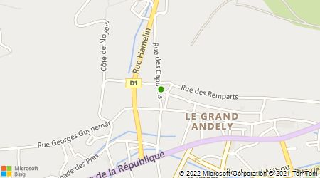 Plan d'accès au taxi ABC Taxi Les Andelys
