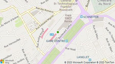 Plan d'accès au taxi Taxis Radio Reims
