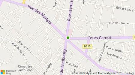 Plan d'accès au taxi Stations de Taxis