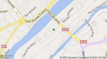 Plan d'accès au taxi Groupement des Artisans Radio Taxis de Thionville