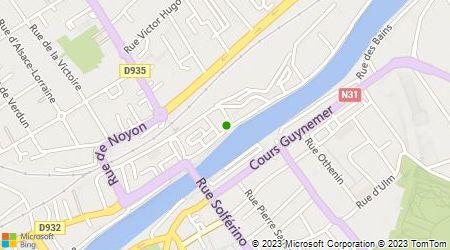 Plan d'accès au taxi A La Borne des Taxis de Compiègne