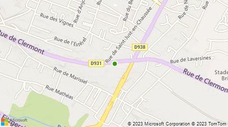 Plan d'accès au taxi Les Taxis du Beauvaisis
